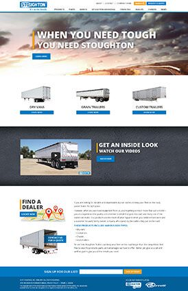 Stoughton Trailers Site Preview